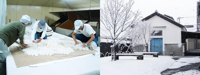 季節と共に仕込む寒造りの様子