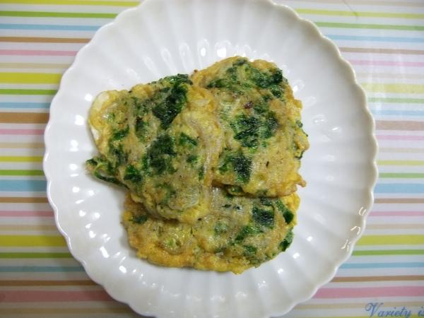 アオサとかま揚げシラスの卵とじ (1)